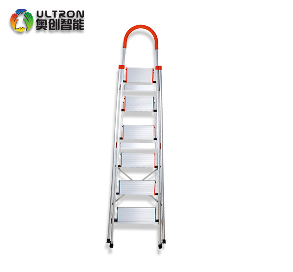 High Strength Aluminum alloy 6 wide Step Ladder with handle